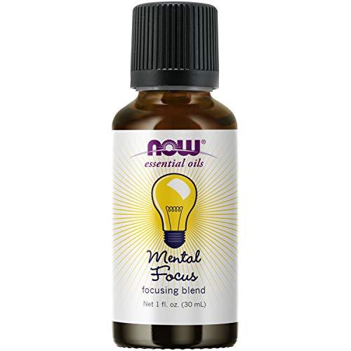 NOW Essential Oils, Mental Focus Oil Blend, Centering...