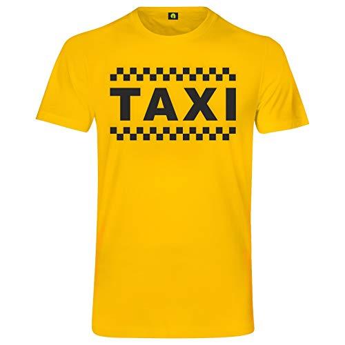 Taxi T-Shirt | Taxe | Taxicab | Cab | Flughafen | Stand | Auto | Chaffeur | Car Gelb XL