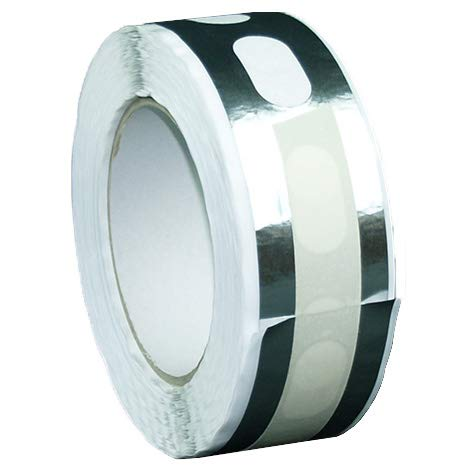 IRONLUX - Cinta de Aluminio Perforada para Sellado de Placas de Policarbonato Celular Ancho 25 mm x Largo 33 ml