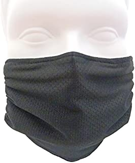 Breathe Healthy Honeycomb Face Mask-Protect Your Immune System from Allergens, Pollen, Dust, Mold Spores, Cold & Flu (Black)