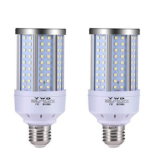 30W LED Garage Lights,3000 Lumen 6000K, LED Street Light, E26/E27, Garage Ceiling Light, for Basement, Barn, Warehouse, Workshop, Sports Hall