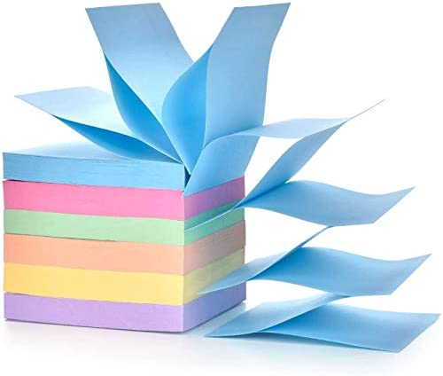 Pop up Sticky Notes self Stick Notes self Stick 100 Sheets pad 3x3inch 6pads Pack 600sheets product image