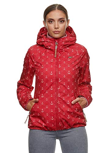 ragwear DIZZIE Marina - Chaqueta de entretiempo con capucha y cuello alto y bolsillos rojo M