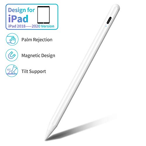 JAMJAKE Stylus Stift für iPad mit Palm Rejection, Active Pencil Kompatibel mit (2018-2020) Apple iPad Pro/iPad/iPad Mini/iPad Air