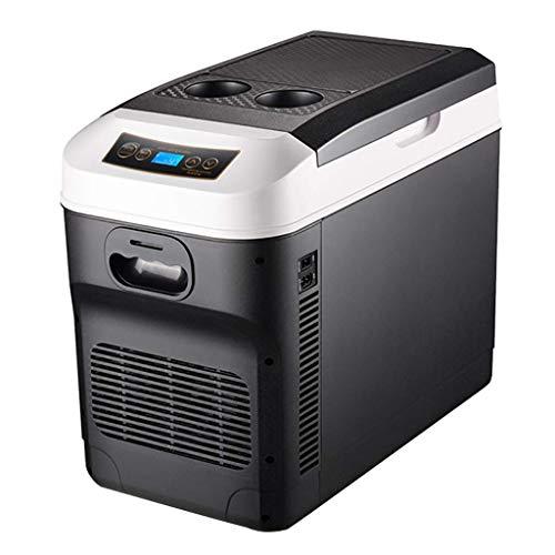 QTCD Mini Car Refrigerator, 28 Liter Dual-Core Refrigeration Mini Portable Compressor Refrigerator Freezer Room Minimum Temperature, Caravan, Office