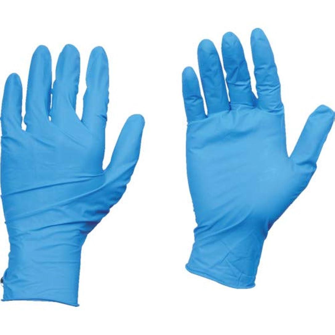 殺す建築チーズTRUSCO(トラスコ) 10箱入り 使い捨て天然ゴム手袋TGワーク 0.10 粉付青L TGPL10BL10C