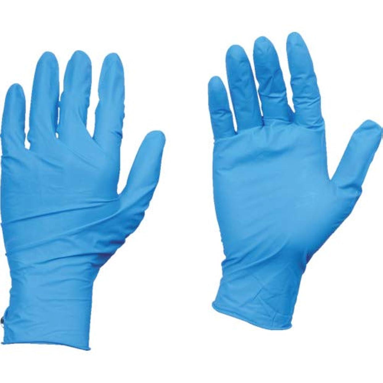 飛行場元気定常TRUSCO(トラスコ) 10箱入り 使い捨て天然ゴム手袋TGワーク 0.10 粉付青L TGPL10BL10C