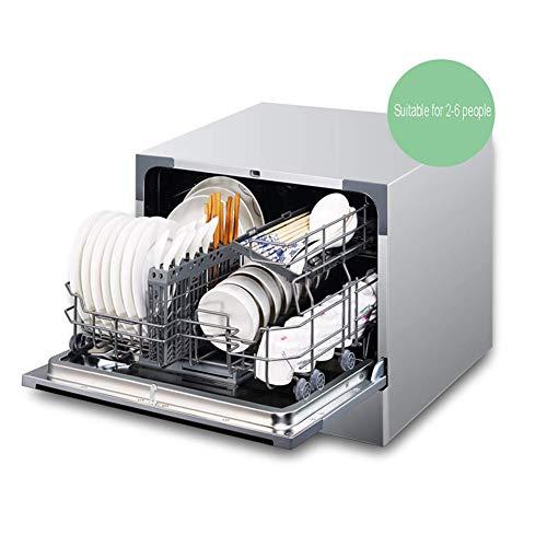 DHINGM Vollautomatische Einbauschränke, Desktop-Dual-Use-Geschirrspüler, 4-in-1 tragbare Geschirrspüler, 7 Arten von Waschverfahren, Dreifach-Selbstreinigende Filter, Schnellreinigung, ohne sie von Sc