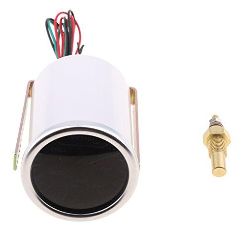 MagiDeal 52mm Universel Voiture LED Température d'eau Capteur Pointeur Jauge 12V