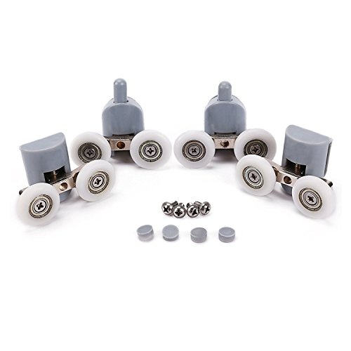 HUI JIN 19 mm, 8 Unidades Rodillos para mampara de Ducha
