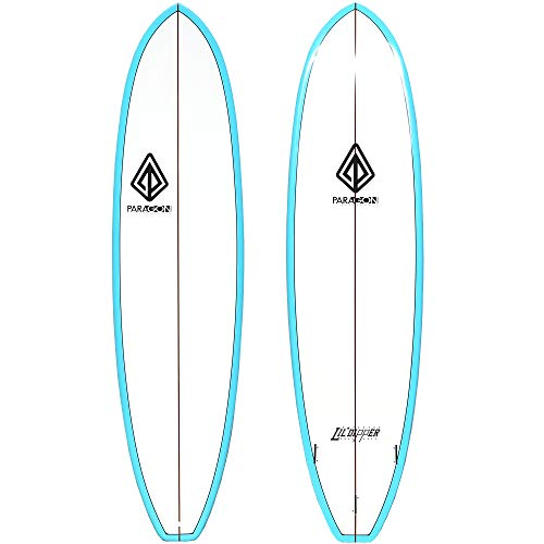 Paragon 6'11 Lil Dipper Turquoise Rail Shortboard Surfboard