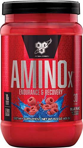 BSN Nutrition Amino X Supplemento in polvere per il supporto dello sviluppo muscolare con vitamina D, vitamina B6 e aminoacidi, lampone blu, 435 g, 30 porzioni