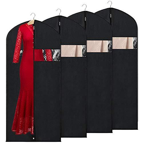 KEEGH Atmungsaktiver Kleidersack Abdeckungen für Lagerung und Reise,152cm Anti-Motten-Schutz, faltbar waschbar für langes Kleid Tanzkostüme Business Anzüge Kleider Mäntel