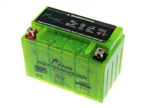 GEL-Batterie-KAGE Green YTX9-BS 9AH für Adly/Herchee Aeon Aprilia Arctic Cat ATU Barossa/SMC Benelli Beta Cagiva Daelim Derbi E-Ton Husaberg Hyosung Kawasaki Kreidler Kymco MBK