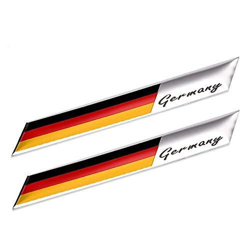 TAYDMEO 2 Stück Deutschland Flagge Motorsport Emblem Fender Kofferraum Aufkleber Aufkleber, Für BMW
