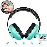 Baby Ohrenschützer mit Geräuschunterdrückung Kinder Gehörschutz Kapselgehörschützer, mit Verstellbarem Kopfband, Baby Gehörschutz für 0-3 Baby/Kleinkinder/Kinder (Mintgrün)