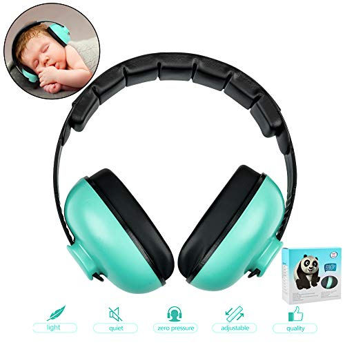 Audífonos con cancelación de ruido para niños con reducción de ruido, diadema ajustable para protección auditiva para bebés de 0 a 3 años, niños pequeños, multicolor