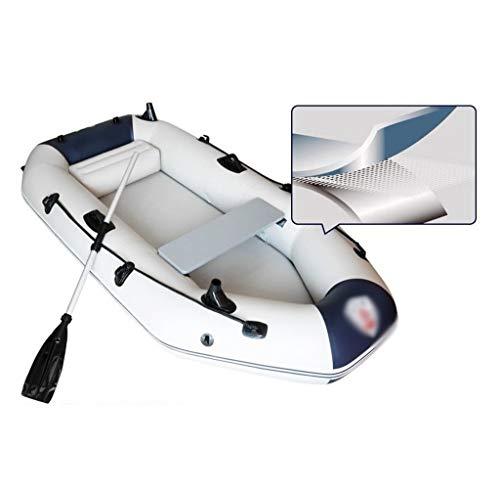 GUOE-YKGM Kayak Faltkajak - Aufblasbares 2-Personen-Kajak-Set Mit Schlauchboot, Zwei Aluminiumrudern Und Elektromotor - Angler Und Freizeitsportler Sitzen Auf Leichtem Angelkajak