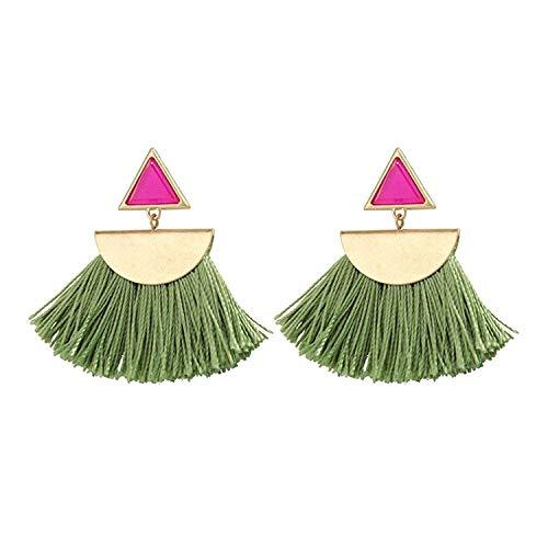 Katylen Earring Bohemia-Su Girl Ohrringe weibliche Luftreiniger Geometrische Ohrschmuck Grün