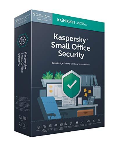 Kaspersky Small Office Security 6, Standard, 5 Geräte, 5 Mobil, 1 Server, 1 Jahr, Windows/Mac/Android/WinServer, für kleine Unternehmen, PC/Mac, Box