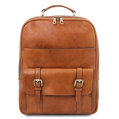 Tuscany Leather. Nagoya - Zaino porta notebook in pelle - TL142137 (MIELE)