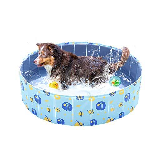 YGJT Piscina Perros Bañera Plegable Mascotas Piscina para Niños Desmontable 120 * 30cm Ducha Exterior Interior Ducha para Perros Grande,Pequeños,Gatos,Niños,Adultos