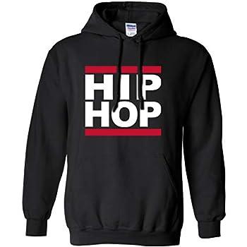 Hip HOP Hooded Sweatshirt in Black - X-Large