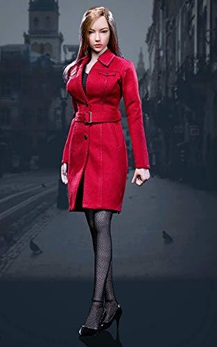 1/6女性トレンチコートスーツ用服 HT、VERYCOOL、TTL、Hottoy、Play、Phicenアクションフィギュアボディ (Color : B)