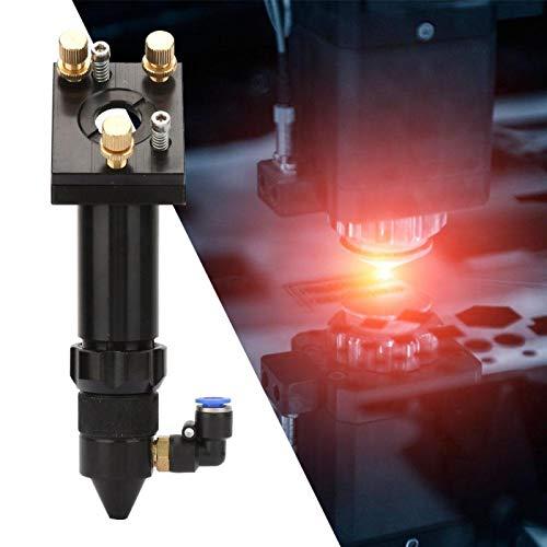 Uxsiya Cabezal láser para grabado, diámetro 20 mm, 50,8/101.6 de alta precisión para equipo de grabado (con placa fija)