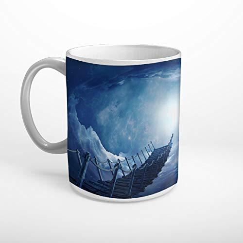 Stufffactory Himmelstreppe Mystisch Fantasy Tasse Spruch Motiv Fototasse Kaffeebecher T1017