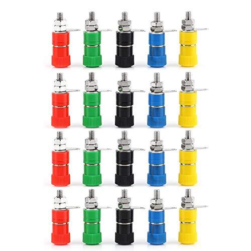 100 pcs 5 color 4 mm Nickelé Banana Plug pour sondes liaison post