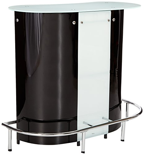 Coaster Home Furnishings CO-100654 Bar Unit, Black and White