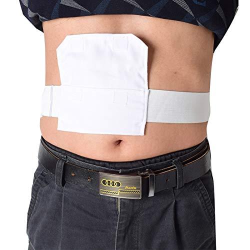Abdominal Dialyse Schutzgürtel, atmungsaktiver Bauchrohr Lagergürtel, Fütterungsrohrhalter Katheter Drainage Bauchfixierung Medizinische Pflege für Patienten
