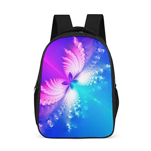 Hinfunees Zaino rosa e blu con motivo a farfalle, borsa per libri durevole, zaino da trekking per ragazzi e ragazze, Grigio acceso., Taglia unica