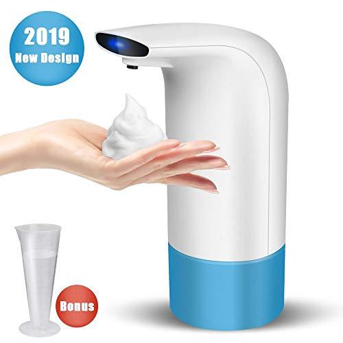Dispensador de jabón automático,Espuma Dispensador Sensor de jabón Espuma sin Contacto Dispensador de Manos Dispensadores de 350ml/8.7 oz, Ideal para Encimeras en Cocina,Baño,Aseo