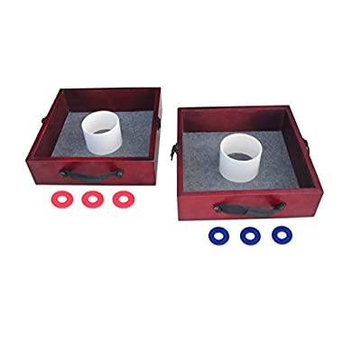 Triumph Tournament Outdoor Washer Toss Game Includes Six Steel Washers