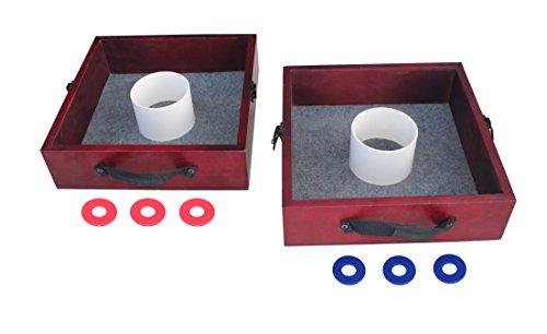 Triumph Premium Washer Toss Spiel – inkl. 2 Filzleinen Unterlegscheiben und Stahlscheiben