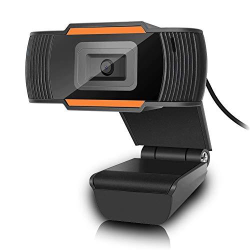YFish HD Webcam Autofocus PC con Micrófono Incorporado, USB(2.0/3.0) 720P Cámara Web de Alta Definición para Ordenadores, Laptop, Computadoras Desktop, Video Conferencia, Llamadas y Juegos