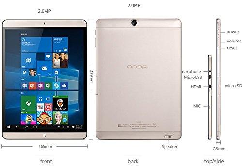 『タブレットPC ONDA V919 Air CH Windows10 Intel Atom x5-Z8300 最大1.84GHz クアッドコア DDR3L 4GB/64GB 9.7インチIPSスクリーン2048x1536ドット/Bluetooth/HDMI 日本語設定済み Office Online 対応 [並行輸入品]』の1枚目の画像