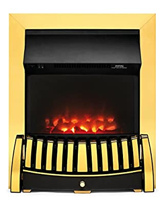 Beldray EH1844STK Almeria Brass Effect Inset Electric Fire