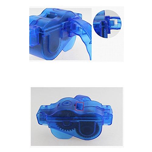 Yizhet Fahrrad Kettenreinigungsgerät Fahrradkettenreiniger Reinigung Scrubber Pinsel-Werkzeug im Set für Kettenreinigung Schnelles Sauberes Werkzeug Cycling Bike Bicycle Chain Cleaner - 7