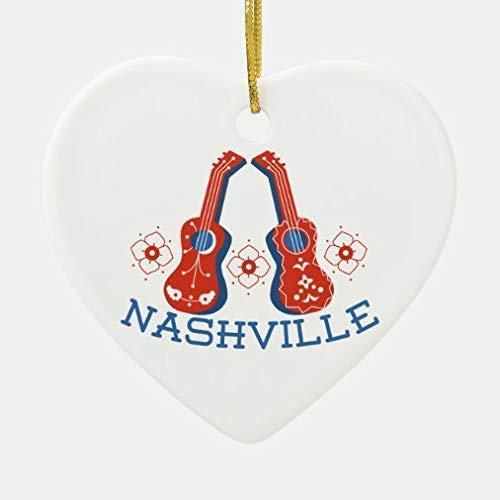 None-Brands Christmas Ornaments Gift Nashville Ceramic Ornament Xmas Gifts Presents, Holiday Tree Decoration Stocking Stuffer Gift