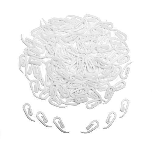100 Piezas Ganchos de Plástico Para Cortina de Puerta, Gancho de Cortina, Cortina de Ventana, Gancho de Cortina de Baño de Un Solo Gancho
