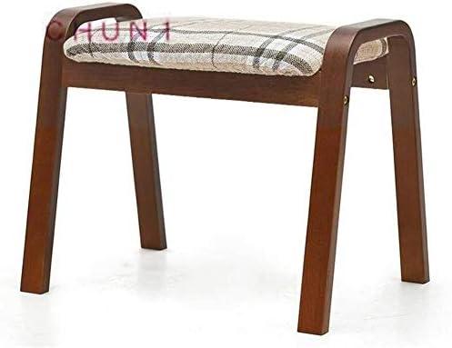Tabouret en bois massif, coton et lin éponge Coussin Pliable adulte Changement Assemblée Banc de chaussures 130 1028 (Size : 1)