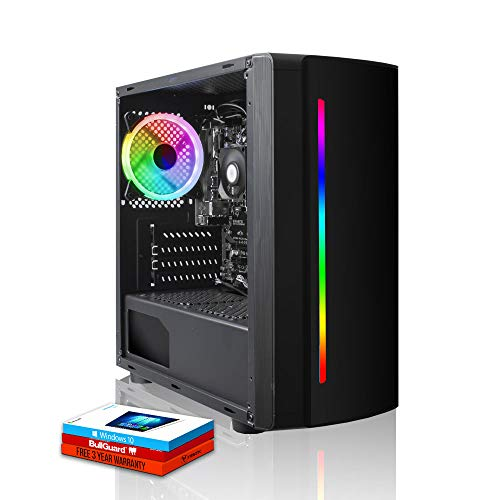 Fierce Crusader RGB PC Gamer - Rápido 3.9GHz Quad-Core AMD Ryzen 3 3100, 1TB Disco Duro, 8GB de 3000MHz, NVIDIA GeForce GTX 1650 4GB, Windows 10 Instalado 1135681