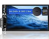 Tristan Auron BT2D7019A Android 10.0 Autoradio mit Navi + OBD 2 DAB+ Box I 7' Touchscreen GPS Bluetooth Freisprecheinrichtung I 32GB I WiFi USB SD 2 DIN