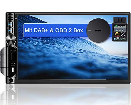 "Tristan Auron BT2D7019A Android 10.0 Autoradio mit Navi + OBD 2 DAB+ Box I 7"" Touchscreen GPS Bluetooth Freisprecheinrichtung I 32GB I WiFi USB SD 2 DIN"