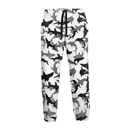 Lewiuzr Pantalones Deportivos Deportivos de Camuflaje S Shark para Hombre Pantalones Deportivos de Fondo Cerrado con cordón y Bolsillos