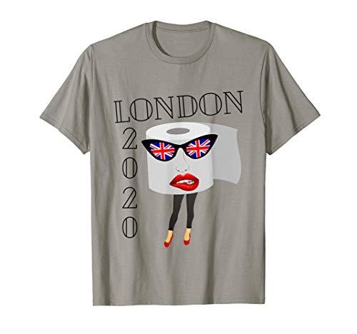 Union Jack Flag Sunglasses, London England UK, TP Quarantine T-Shirt