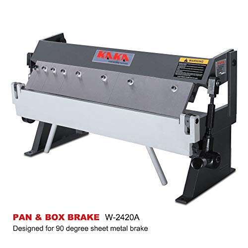 KAKA Industrial W-2420A, 24-Inch Box and Pan Brake, Solid Construction Sheet Metal Brake, High Precision Pan and Box Metal Brake, Easy Operation Metal Box Brake, 20 Gauges Sheet Metal Machine